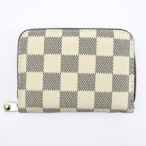 The Checkered Zip Card Holder