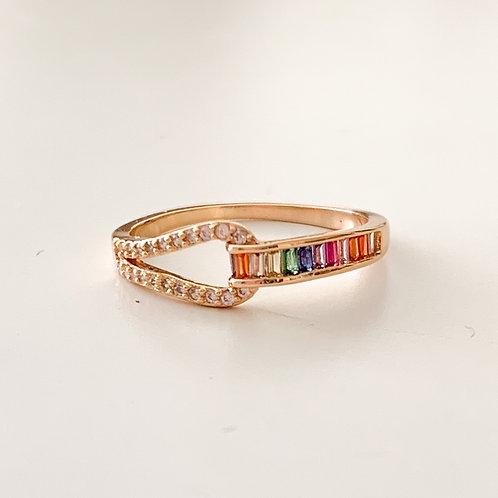 The Rainbow Belt Ring, Gold