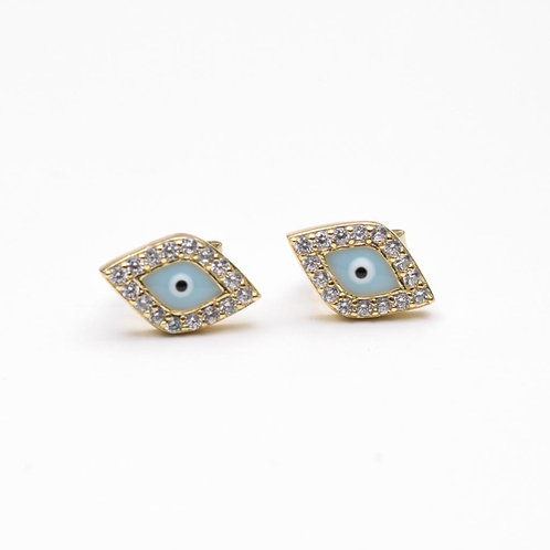 Malocchio Earring, 925 Sterling Silver