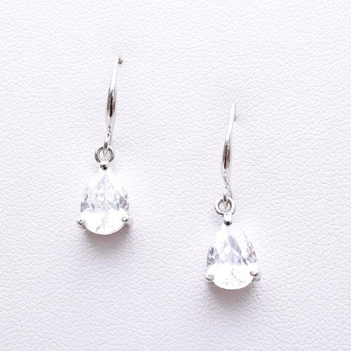 The Traditional Teardrop Earrings, Silver