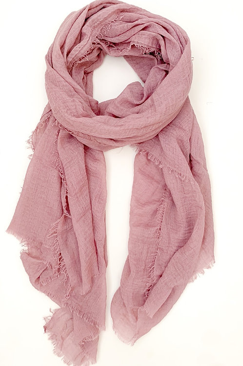 The Everyday Cotton Scarf, Mauve