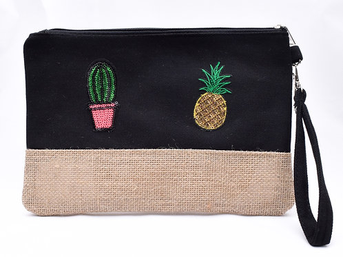 Cactus & Pineapple Mask/Cosmetic Pouch