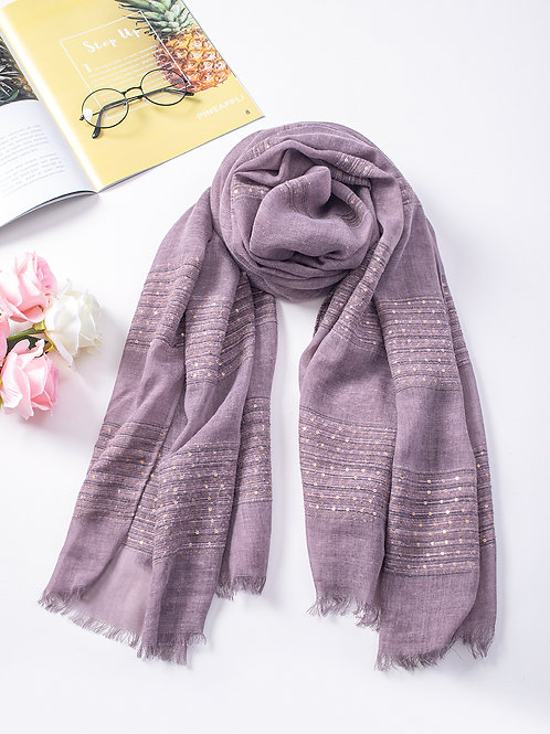 The Simone Sequin Scarf, Purple