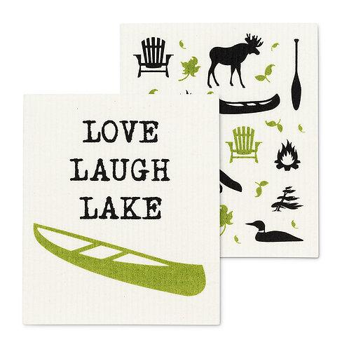 Live Love Lake Dishcloth Set