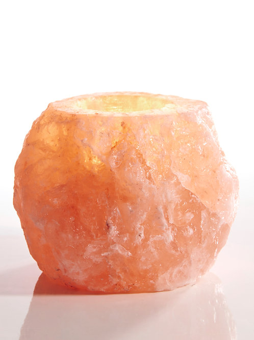 Himalayan Crystal Salt Natural Tea light Candle Holder