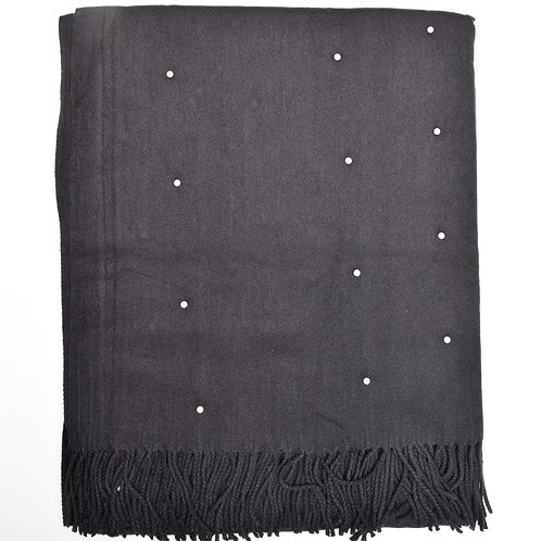 The Floating Pearl Scarf, Black