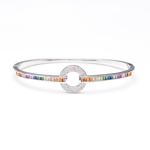 "Multi-colour ""O"" Bangle"