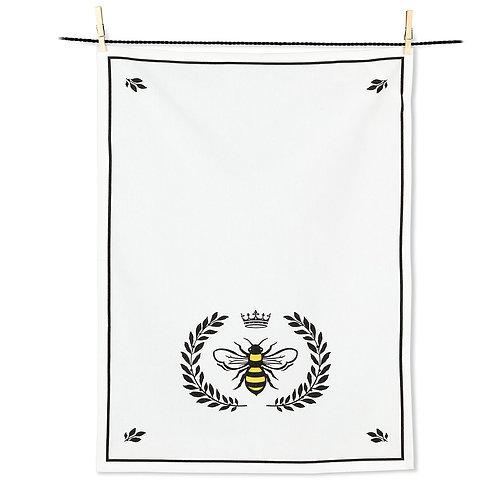 Bee in Crest Tea Towel
