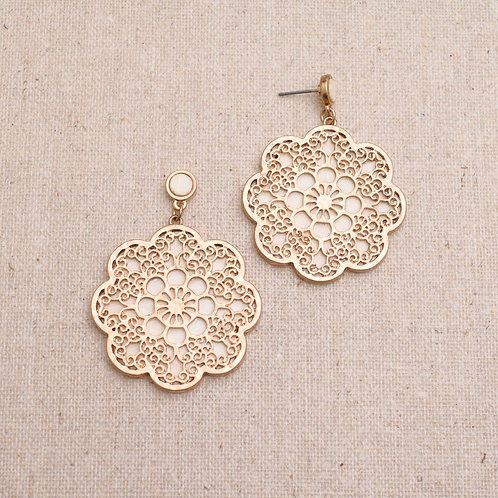 The Floral Wood Earring