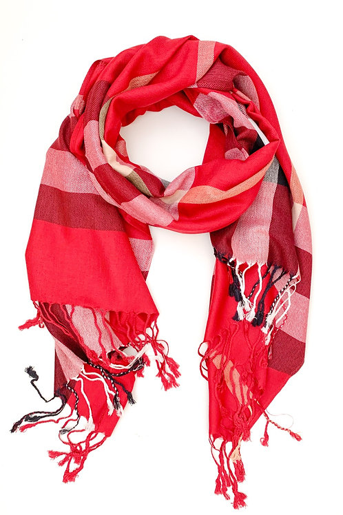 The Pretty Plaid Scarf, Red