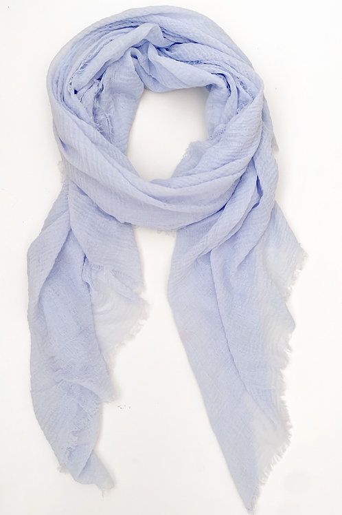 The Everyday Cotton Scarf, Light Blue