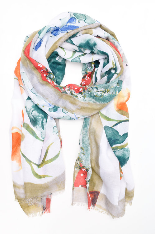 Water Colour Patch Scarf