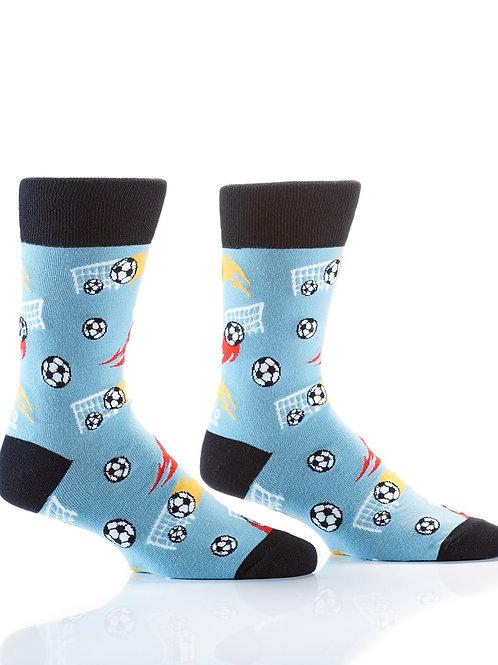 Men's Crew Sock, Soccer Goals