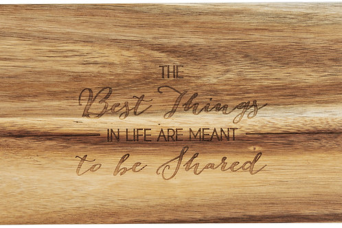 "Best Things - 21"" Acacia Cheese/Bread Board Set"