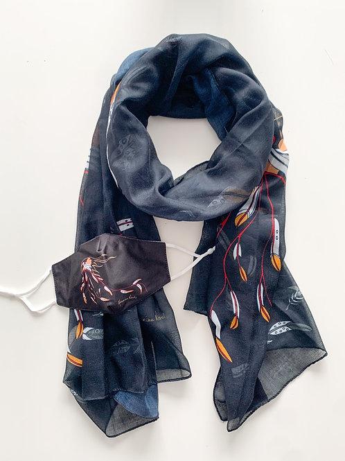 Indigenous Mask & Scarf Set, Eagles Gift