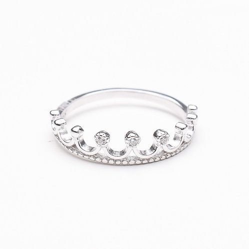 The CZ Crown Sterling Silver Ring