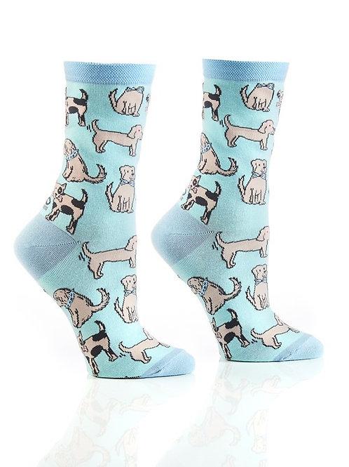 Women's Crew Socks, Dogs