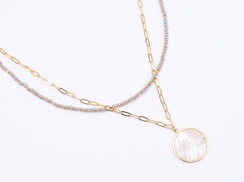 The Shell Paperclip Layered Necklace