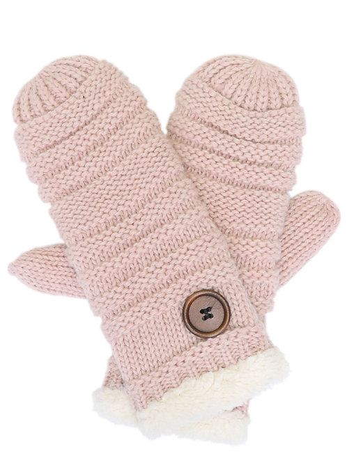 The Pink Button Mittens