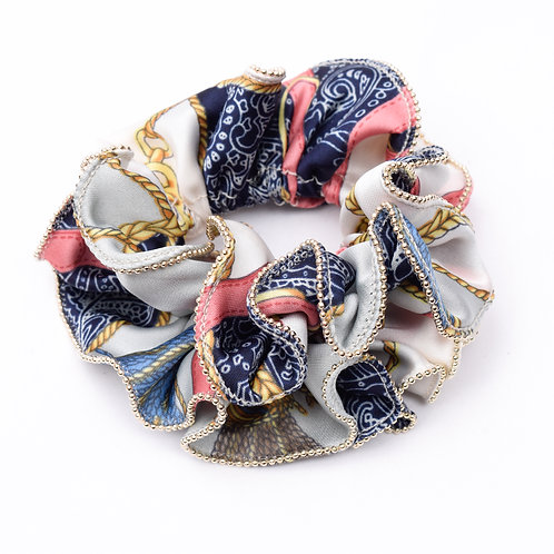 Belts and Chains Scrunchie