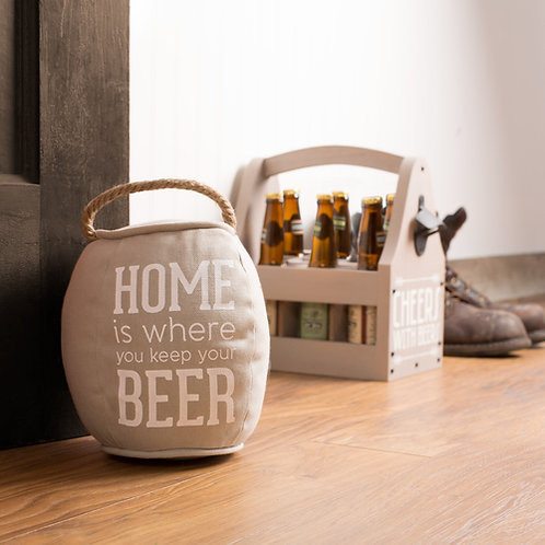 """Home is... Beer"" Door Stopper"