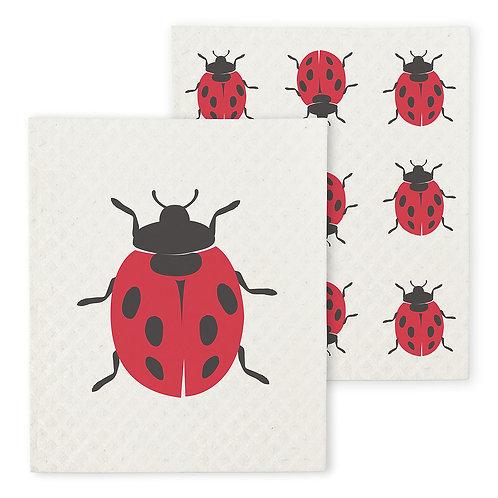 Lady Bug Dishcloth Set