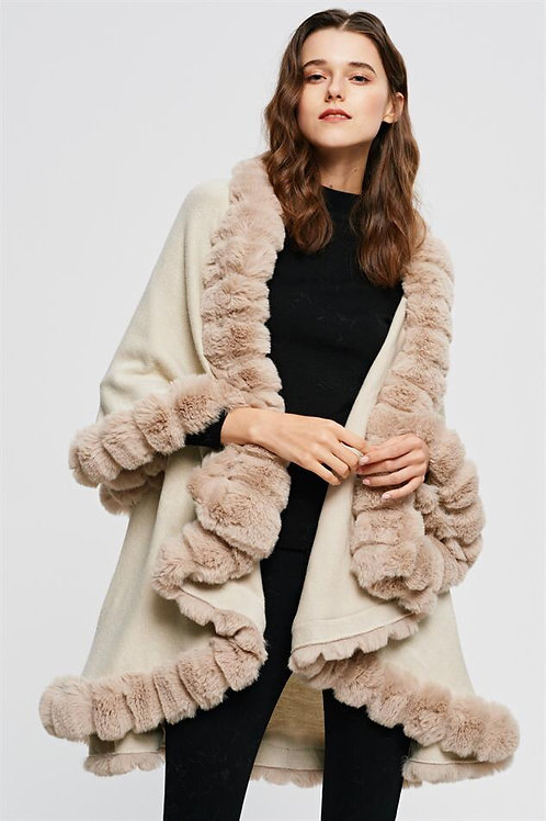 The Luxe Cape, Beige