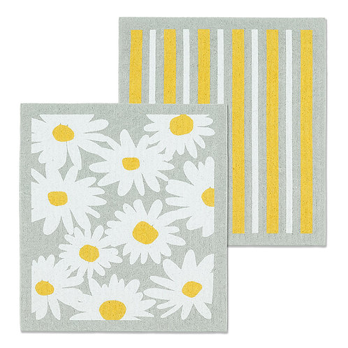 Daisy & Stripes Dishcloth Set
