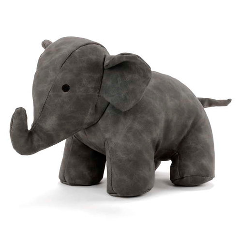 Faux Leather Elephant Door Stopper