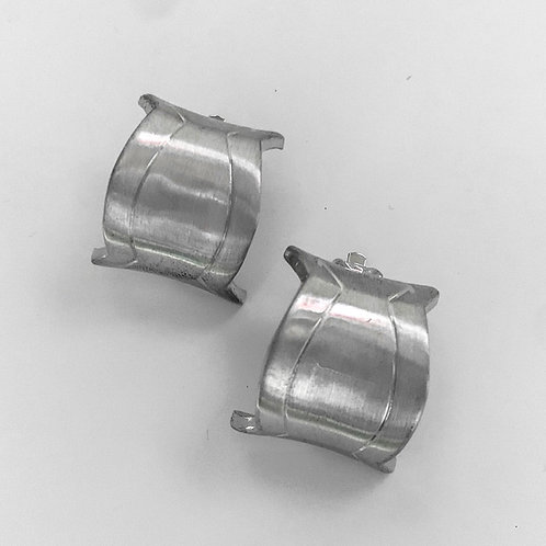 Silver Rounded Square Clip Ons