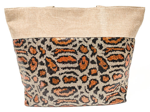 The Sequinned Cheetah Tote