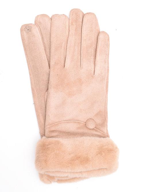 The Charlotte Gloves, Beige