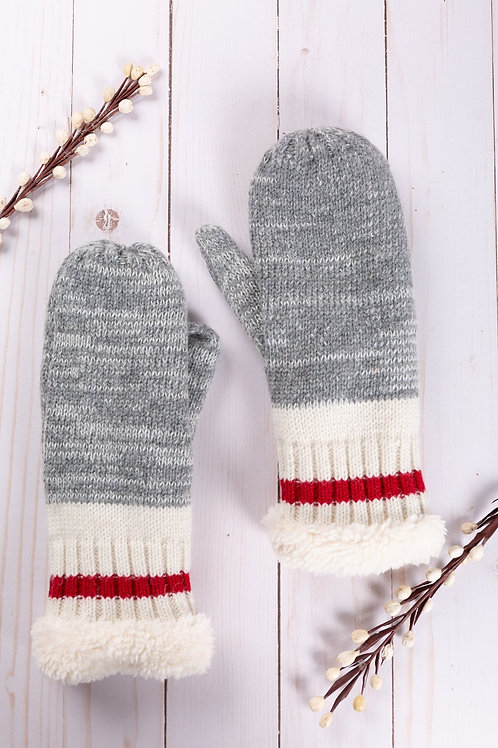 The Racing Stripe Mittens