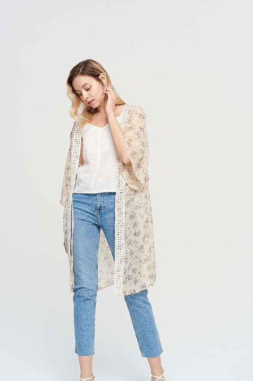 The Embroidered Floral Kimono