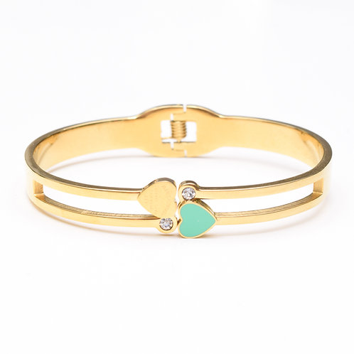 The Blue Heart Bangle, Gold