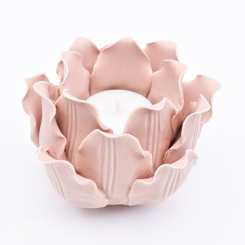 Flower Tea light Votive, Pink