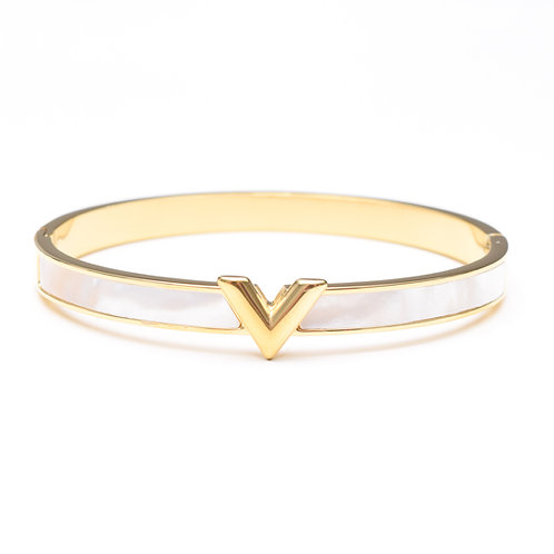 The Violet Pearl Bangle, Gold