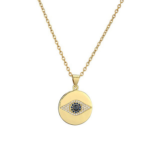 The Black Evil Eye Micro Inlay Necklace