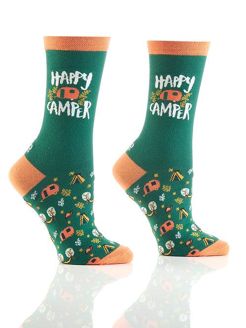 Women's Crew Socks, Happy Camper