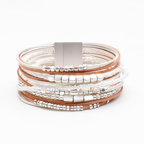 The Strand & Bead Leather Bracelet