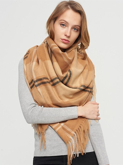 The Cappuccino Blanket Scarf