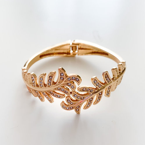 The Crystal Feather Bangle