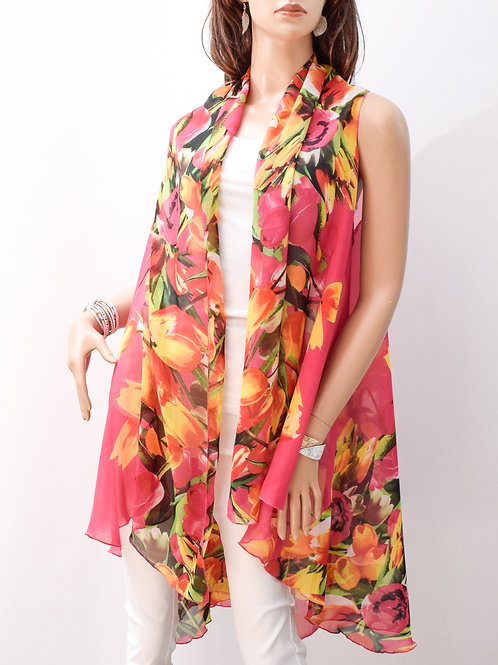 The Sun-kissed Floral Shawl