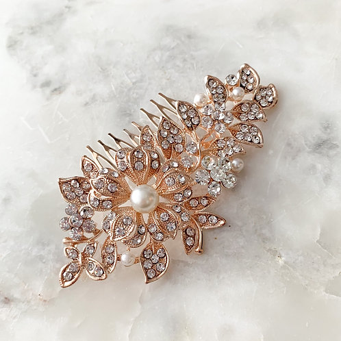 The Claire Hair Comb, Rose