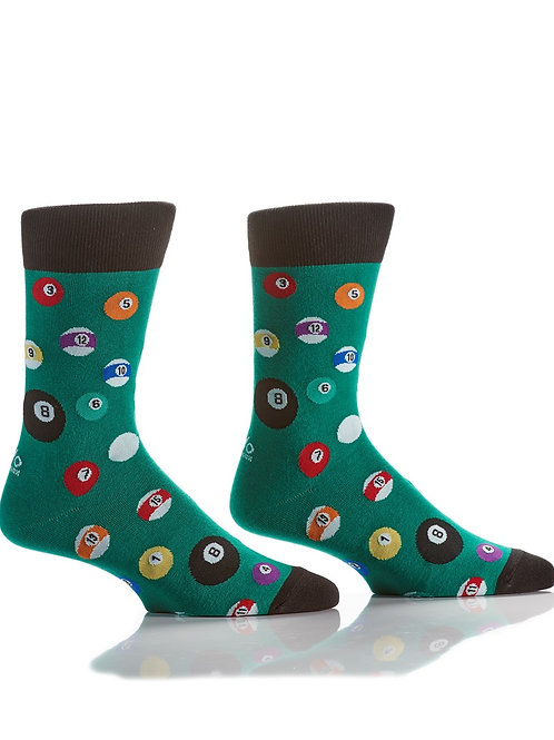 Men's Crew Sock, Billiards