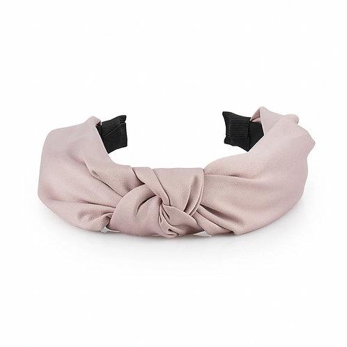 Satin Top Knot Headband, Rose