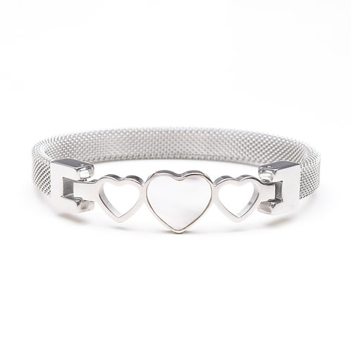 The Pearled Heart Bracelet