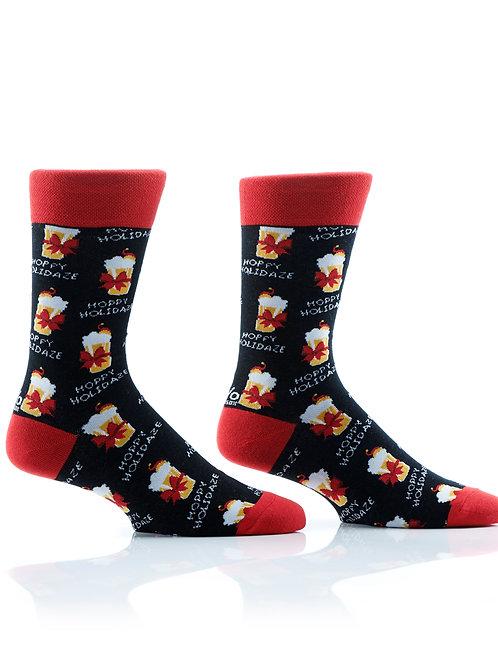 Men's Holiday Crew Sock, Happy Holidaze