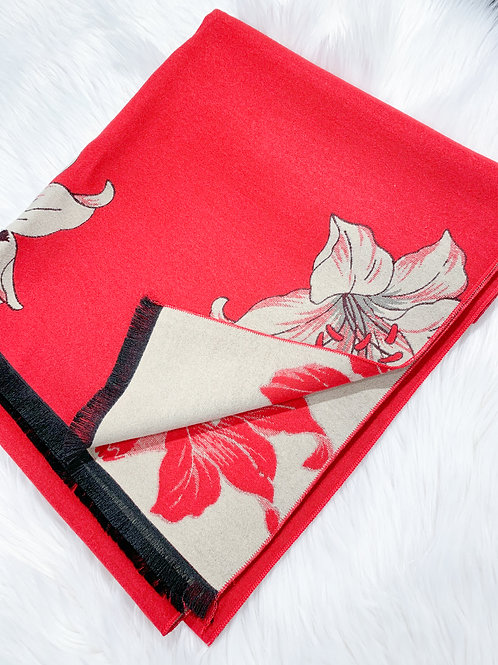 The Orchid Shawl, Red