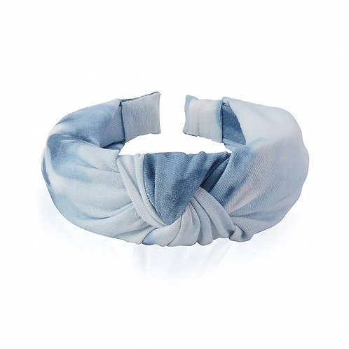 The Clouded Top Knot Headband, Blue